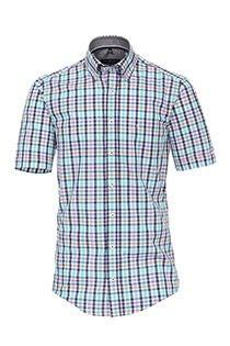 Ruiten korte mouw overhemd van Casamoda