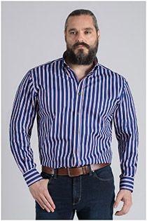 Extra lang gestreept overhemd Plus Man