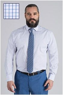 Extra lang dress shirt van Plus Man