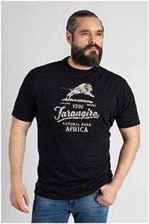 Korte mouw t-shirt Kitaro met borstprint