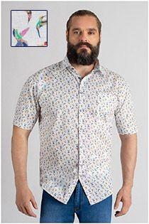 Allover bedrukt korte mouw overhemd GCM Originals