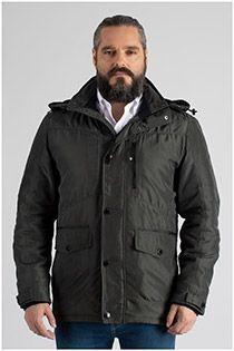 Gevoerde jas met capuchon van Canson