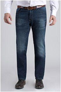 Extra lange 5-pocket jeans van Pionier