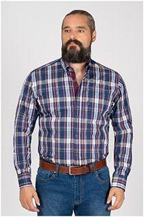 Lange mouw ruiten overhemd van Plus Man EXTRA LANG