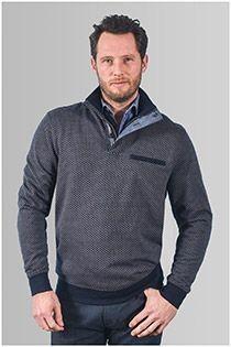 Meantime sweatshirt met ritskraag