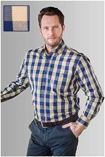 Lange mouw ruiten overhemd van GCM Originals