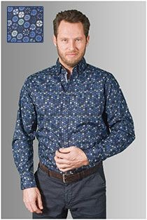 Lange mouw all-over bedrukt overhemd van GCM Originals