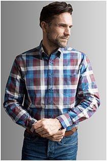 Lange mouw flannel overhemd van GCM Originals
