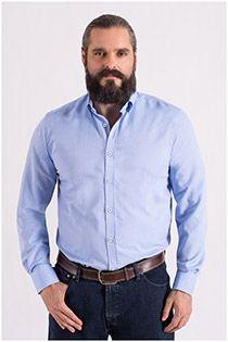 Plusman uni lange mouw overhemd