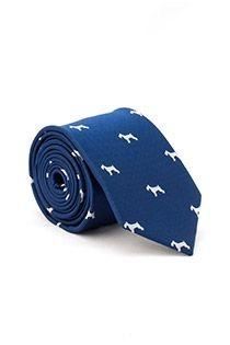 Bedrukte extra lange stropdas van Plusman