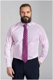 Extra lang gestreept dresshemd van Plusman