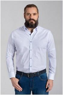 Lange mouw allover print overhemd van Plusman