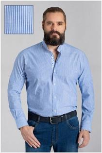 Gestreept lange mouw vrijetijdsoverhemd van Plusman