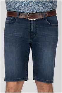 5-pocket elastische jeansbermuda van Pionier