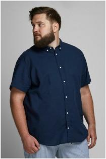 Linnen korte mouw overhemd van Jack & Jones