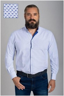 Allover print lange mouw overhemd van Plusman