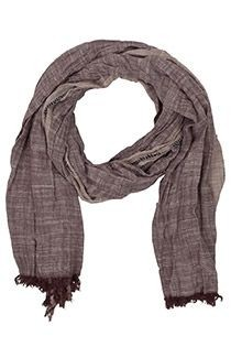 Bruine gestreepte sjaal