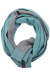 Tweekleurige uni sjaal van Casamoda.