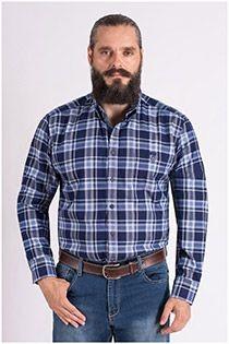 Extra lange mouw ruiten overhemd van Casamoda