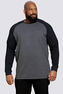 Tweekleurig lange mouw t-shirt van D555