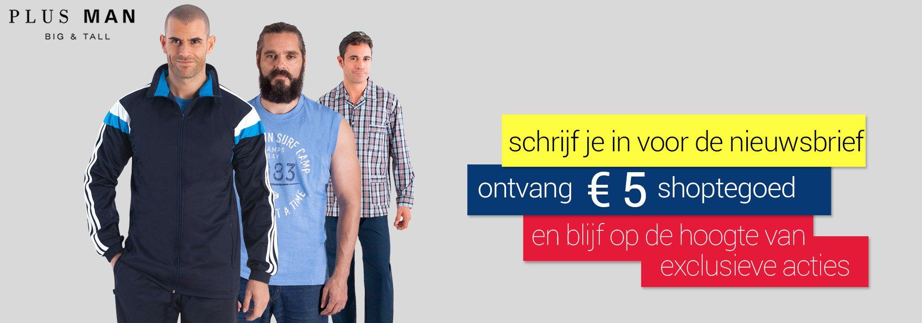 €5 shoptegoed bij inschrijving op onze nieuwsbrief