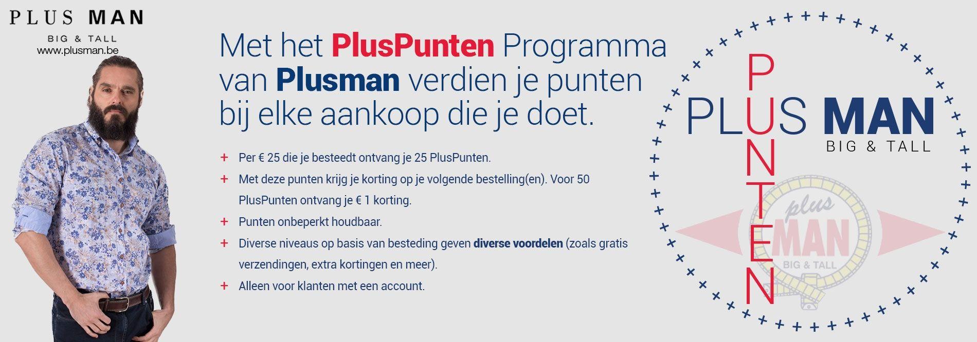 Het PlusPunten Spaarprogramma van Plusman.be