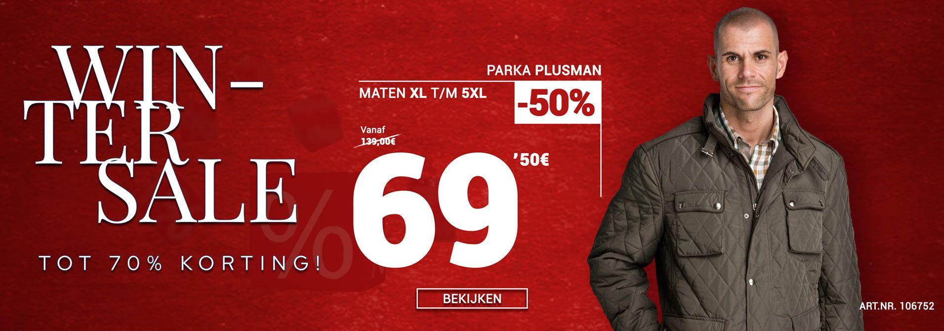 Winterjas van Plusman