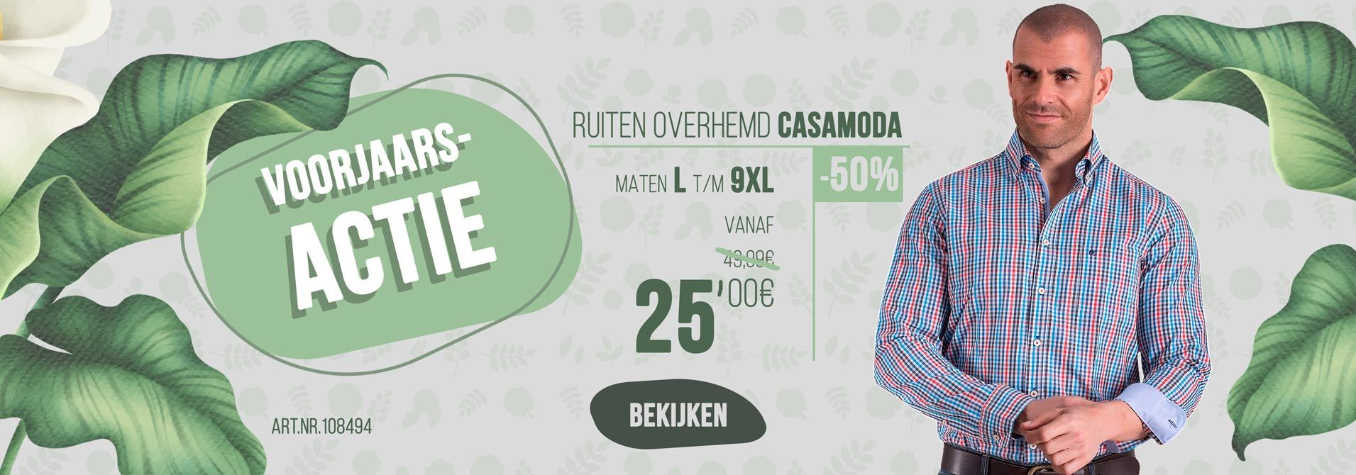 Ruiten overhemd van Casamoda